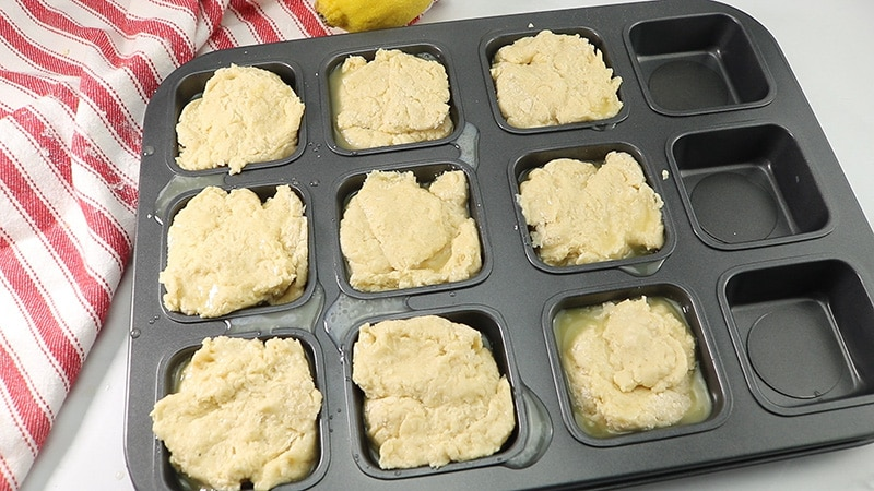 biscuits to go in the oven