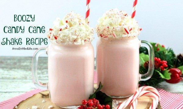 Boozy Candy Cane Shake Recipe