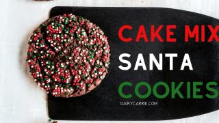 Cake Mix Santa Cookies