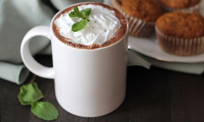 Rich Vegan Peppermint Hot Chocolate