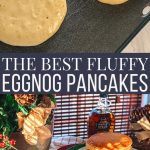 the best fluffy eggnog pancakes