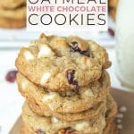 Soft Chewy White Chocolate Oatmeal Cranberry Cookies