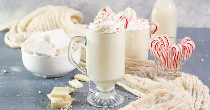Rum and Peppermint White Hot Chocolate