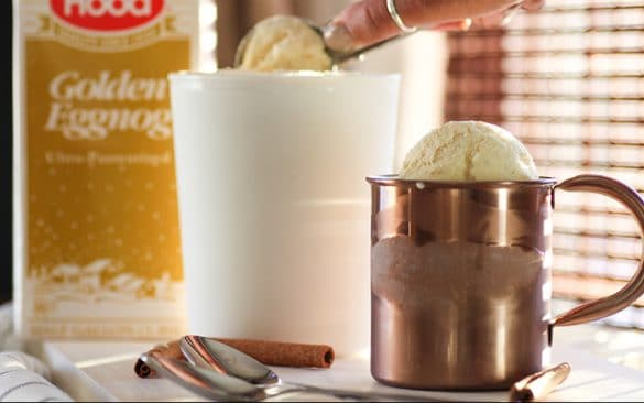 simple and easy eggnog ice cream