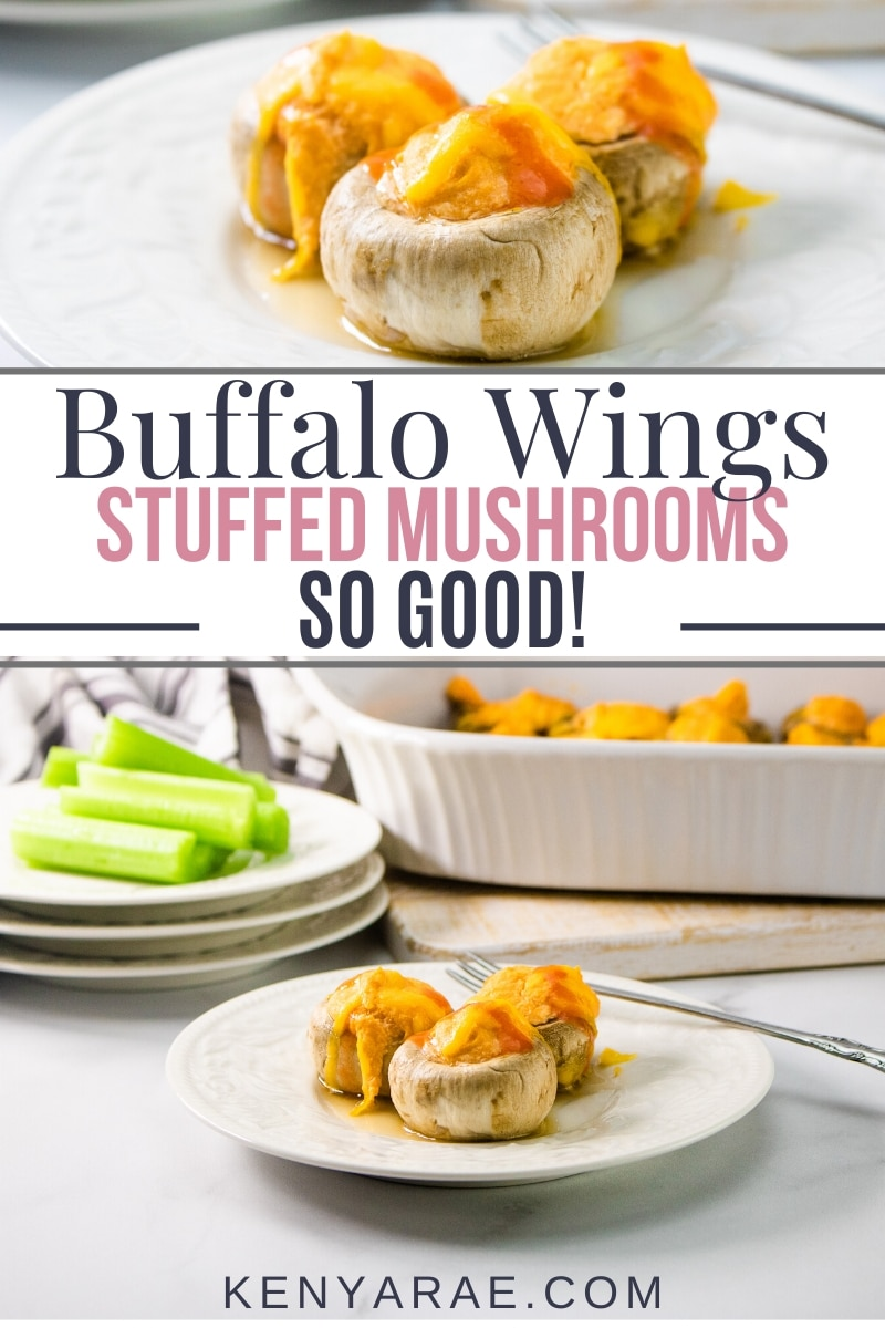 buffalo wings stuffed mushrooms so good!