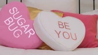 DIY Conversation Heart Pillows