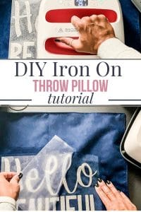DIY Iron On Throw Pillow tutorial