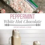 how to make peppermint white hot chocolate