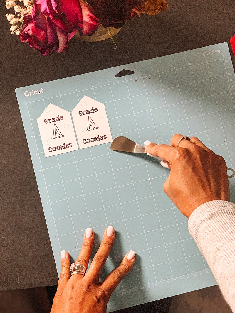 removing cut tags from cricut mat