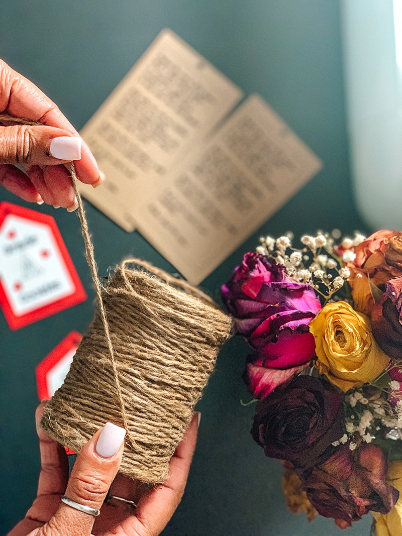 twine rope for threading through cookie jar tags