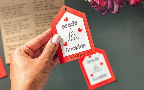 valentines day cardboard tags