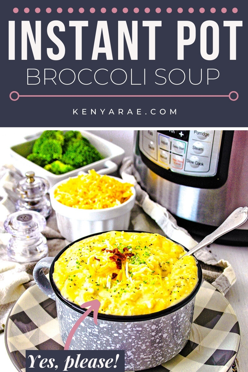instant pot broccoli cheddar soup