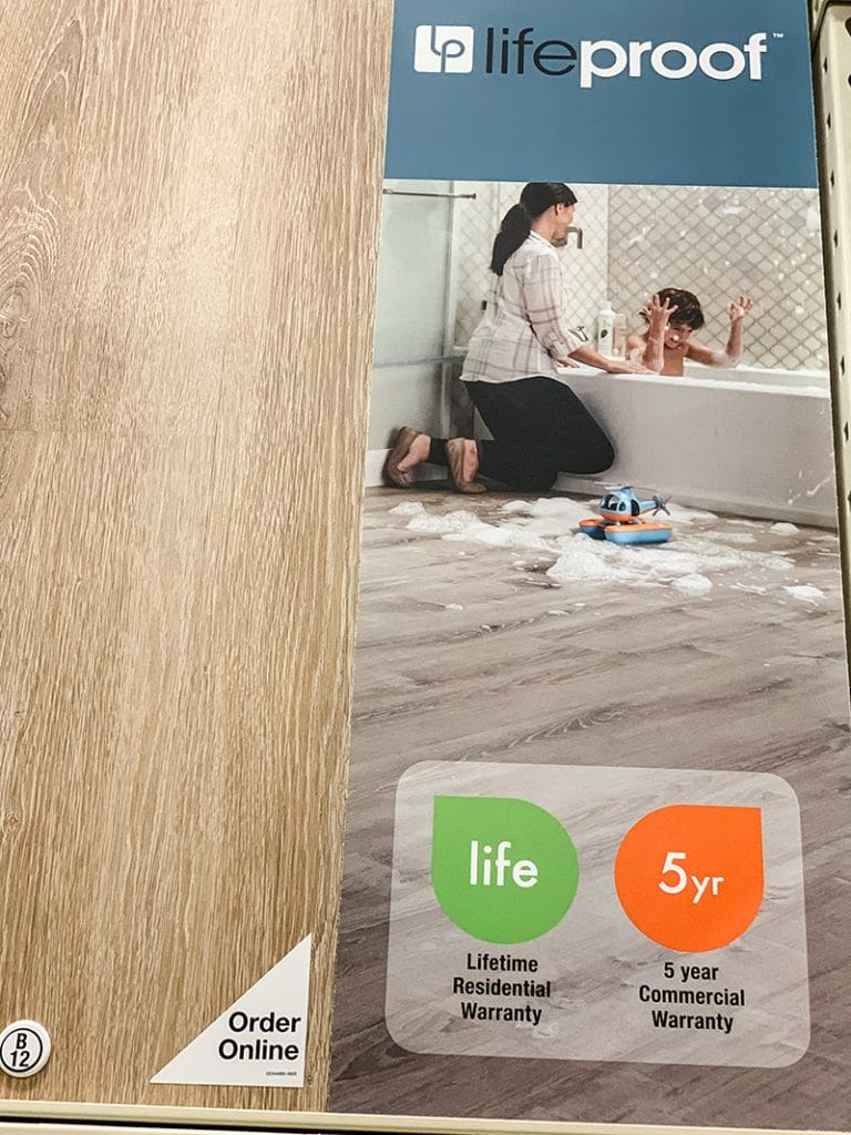 LifeProof floor has a lifetime residential warranty ad 5 year commercial warranty