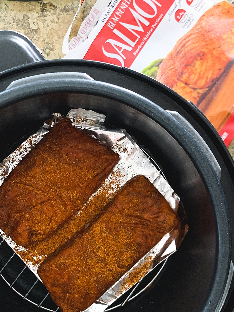 blackened salmon in the instant pot