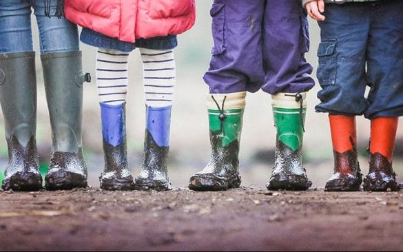 kids boots in the mud toddlers to teenagers in size