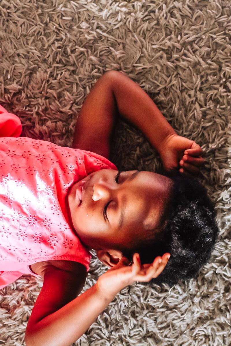 beautiful sleeping toddler baby girl