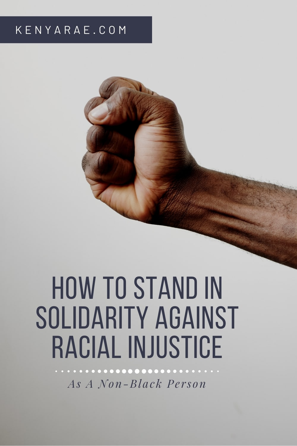 standing in solidarity for racial injustice
